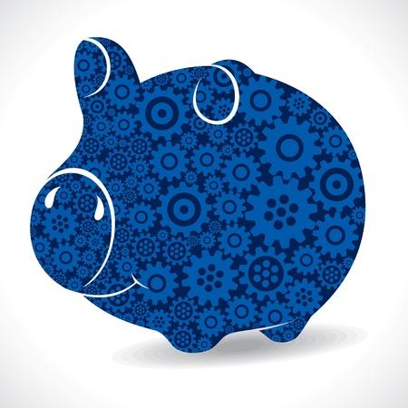 gear piggy bank stock vector Stock Vector - 18053503