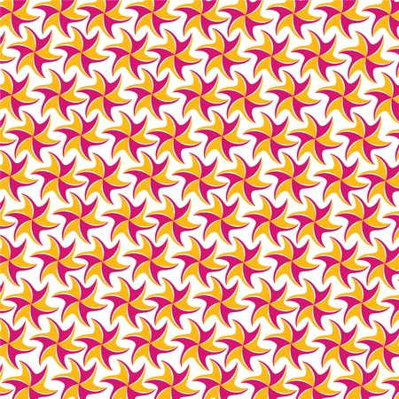 pink yellow flower pattern Stock Vector - 18053334