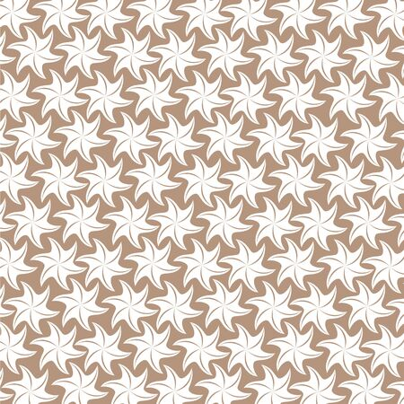 white flower pattern on brown background Stock Vector - 18053374
