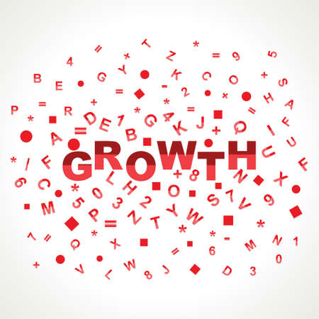 Growth word with in alphabets Stock Photo - 18197846