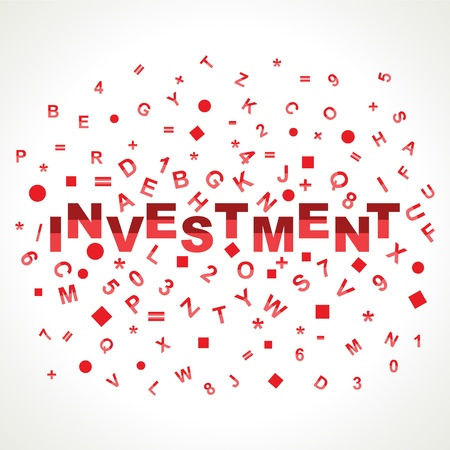 Investment word with in alphabets Stock Photo - 18197793