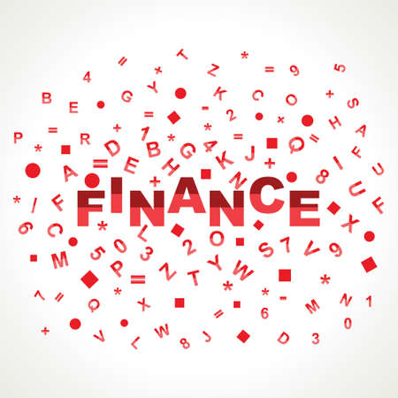 Finance word with in alphabets Stock Photo - 18197788