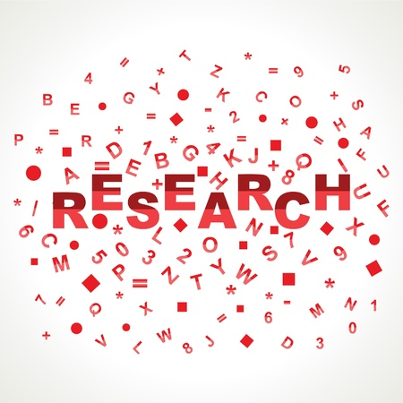 Research word with in alphabets Stock Photo - 18197883