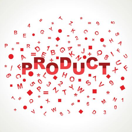 Product word with in alphabets Stock Photo - 18197790