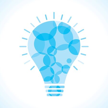 Blue circle bulb background Stock Photo - 18197784