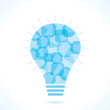 Blue square bulb background  Stock Photo - 18197820