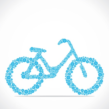bicycling: bicycle design with gear stock vector