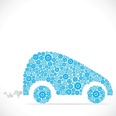 car design with blue gear stock vector Vector