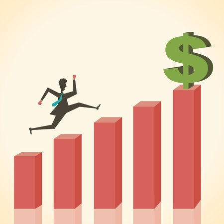 graph show growth of business concept Stock Vector - 18332197