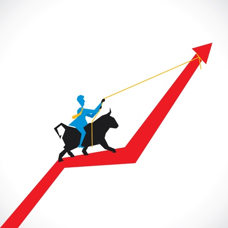 levy: men lift the arrow move up to increase capital