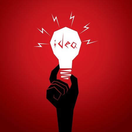centralized: new idea concept men head in bulb