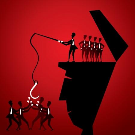 find staff: recruitment concept stock vector Illustration