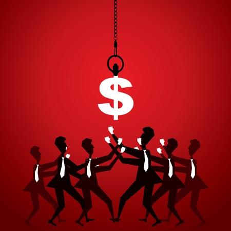 adversaire: se battre pour de l'argent vecteur stock