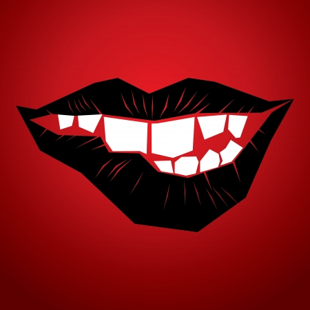 closed mouth: abstract lips vector