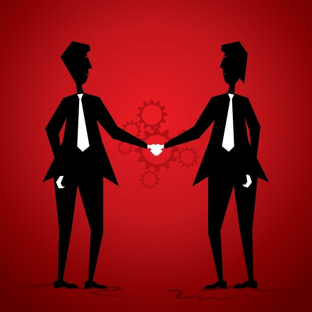 businessmen shake hand Stock Vector - 18332204