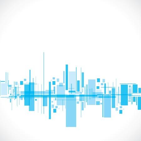 astratto blu città stock vettore