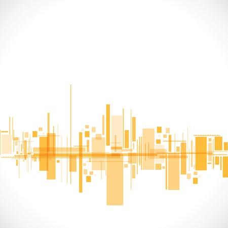 abstrakt, Gelb, Stadt stock vector Illustration