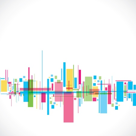 colorful abstract city stock vector