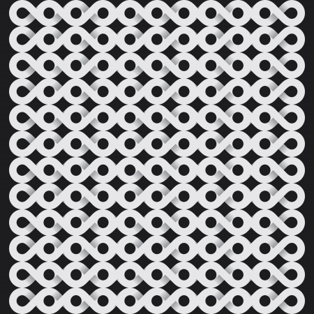 tile able: white infinity symbol pattern