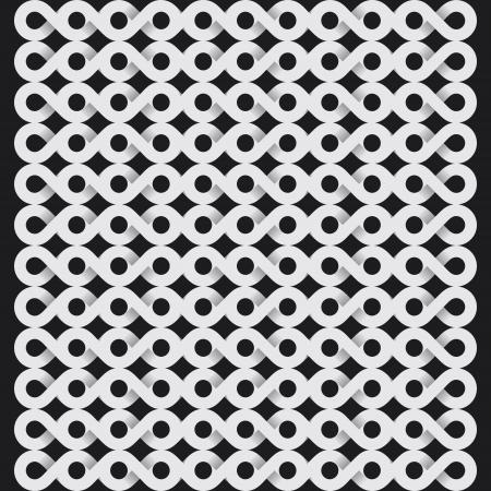 mishmash: white infinity symbol pattern