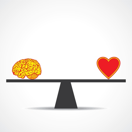 Vergleichen Geist mit Herz stock vector