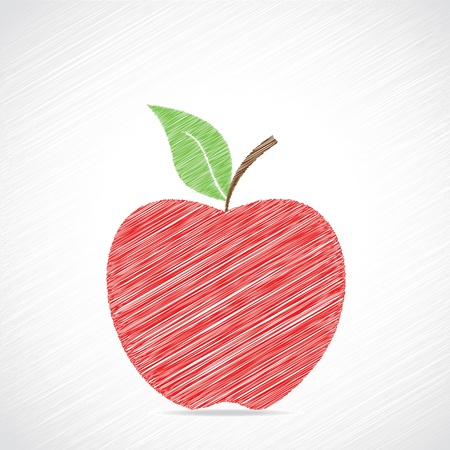 Red sketch apple design stock vector  Stock Vector - 18332234
