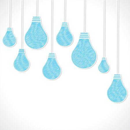 Blue sketch bulb background stock vector Stock Vector - 18332226