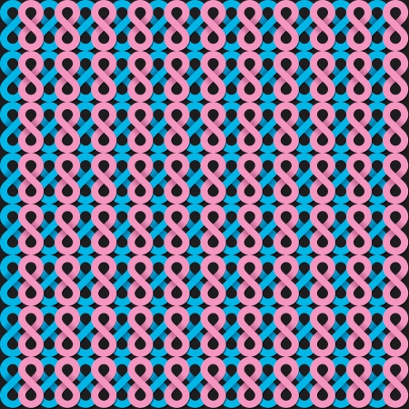 mishmash: infinity shape pink and blue pattern