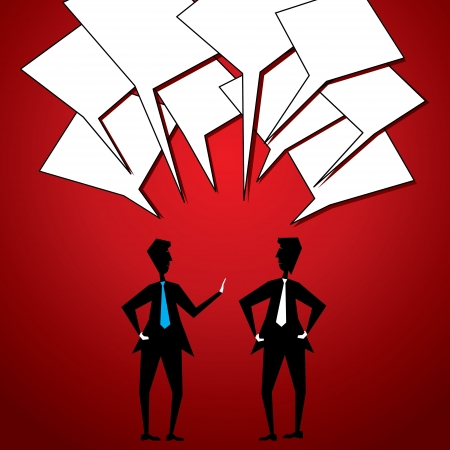 two businessmen communicate Stock Vector - 18332335