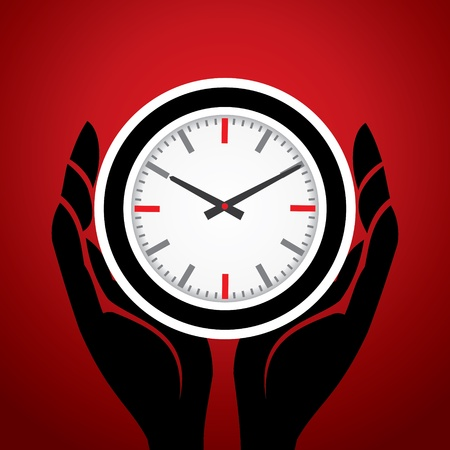 clock in hand Vector
