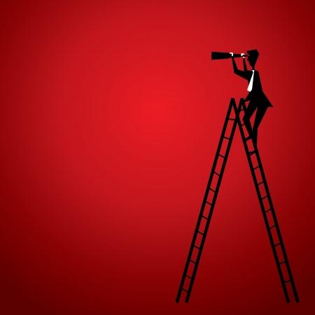 mannen de trap om te zoeken