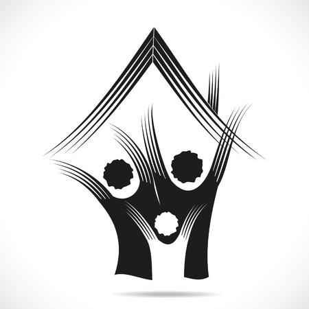 icono inicio: abstracto icono sweet home vector stock