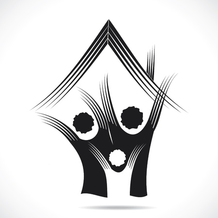 maison: abstrait vecteur vert stocks home icon Illustration