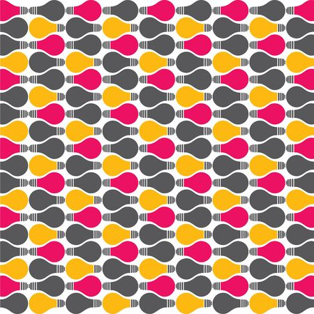 colorful bulb pattern stock vector Stock Vector - 18398160