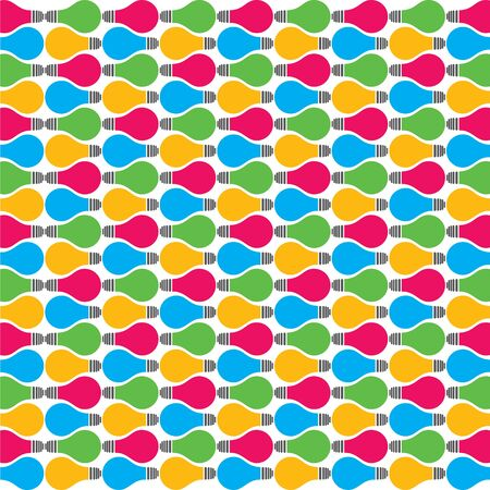 colorful bulb pattern stock vector Stock Vector - 18398158