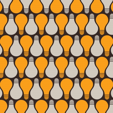 retro bulb pattern background stock vector Vector