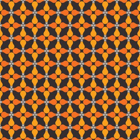 yellow orange bulb pattern background Vector