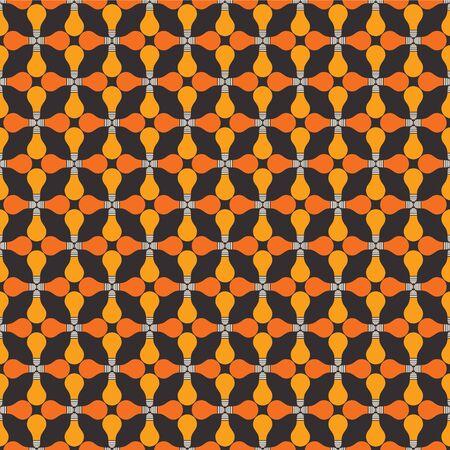 yellow orange bulb pattern background Stock Vector - 18398167