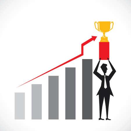 business celebrate company success stock vector Stock Vector - 18398041