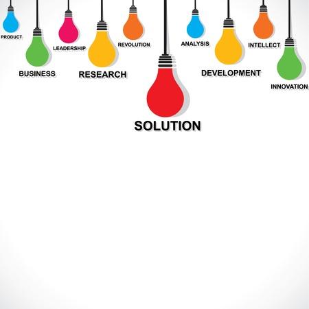 kleur lamp met zakelijke woord concept stock vector Vector Illustratie