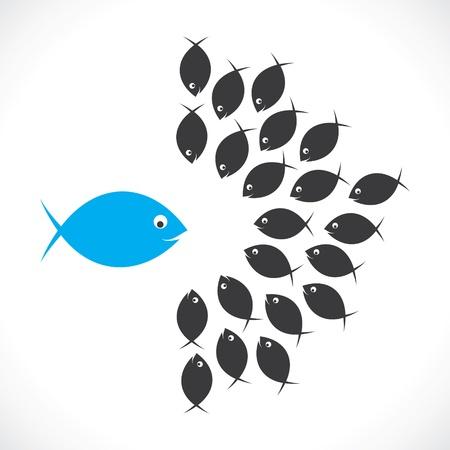Fische zu diskutieren oder Führer Treffen mit Team-Mitglied
