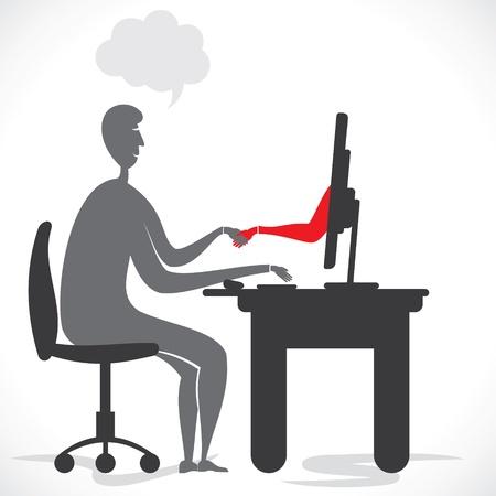 ecomerce: online deal or agreement  concept stock vector