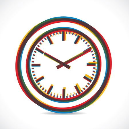 abstract color clock stock vector Vector