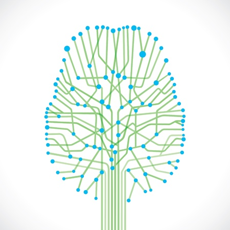 abstrakte Struktur des Gehirns Vektorgrafik