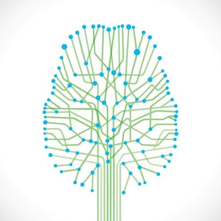 mente humana: estructura abstracta cerebro vector stock Vectores