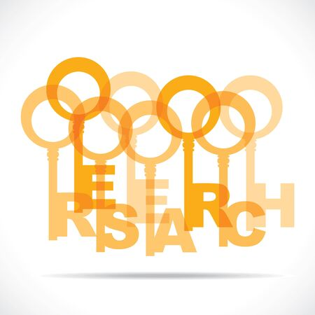 research word key stock vector Stock Vector - 18785550