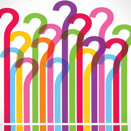 Colorful question mark background stock vector Stock Vector - 18873390