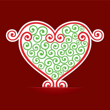 Seamless design make a heart  background stock vector Vector