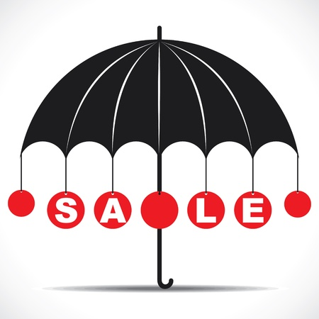 Sale text with umbrella stock vector Stock Vector - 18904813