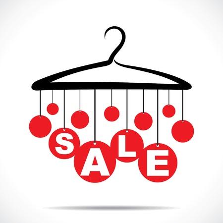 coat rack: red hanging sale text stock vector